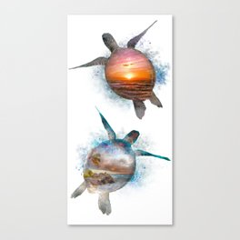 Turtle Beach & Sunset Canvas Print