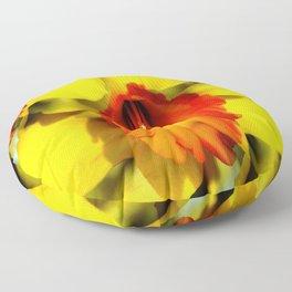 Daffodil - Orange Trumpet Floor Pillow