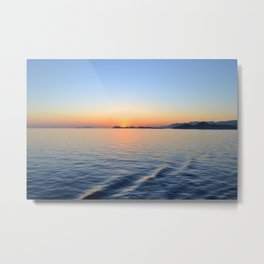 Croatia Sunset Metal Print