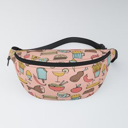 Food Frenzy pink Fanny Pack