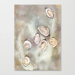 Oyster Bed Canvas Print