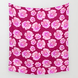 Blushing Roses Wall Tapestry