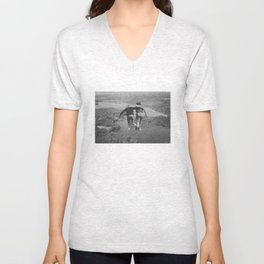 on the lake & by the sea Unisex V-Neck
