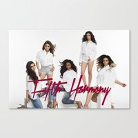 fifth harmony Canvas Prints featuring Fifth Harmony laptop skin by stephanie