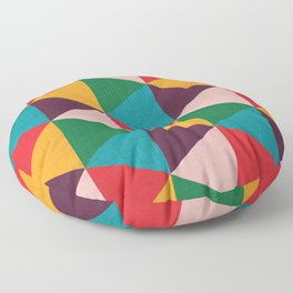 Triangle pattern Floor Pillow