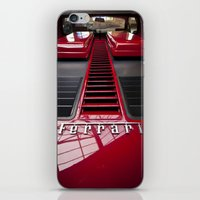 ferrari iPhone & iPod Skins featuring Ferrari behind. by Cozmic Photos