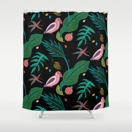 Jungle Parrot Shower Curtain