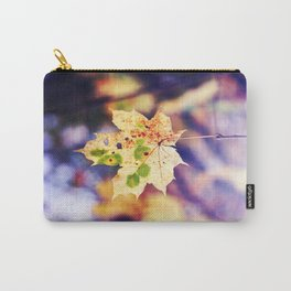 Leaf in the purple sunlight Carry-All Pouch