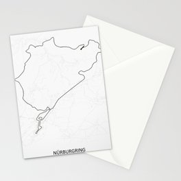 Nürburgring Nordschleife and GP Track Circuit Map Stationery Cards