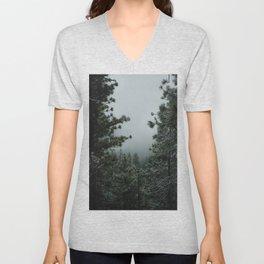 Backwoods Winter: Ponderosa Pines, Washington Unisex V-Neck