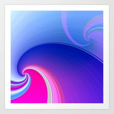 Ride the Wave (purple) Art Print