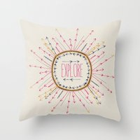 explore Throw Pillows featuring Explore by rskinner1122