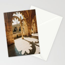 sunlight hitting the Jerónimos monastery in Lisbon, Portugal | Photo Print, Travel Photography Stationery Cards