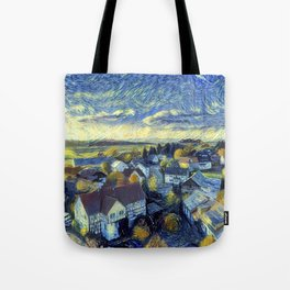 "Gogh's by The Bürg Atelier Collection - ""The Little Village"" Tote Bag"