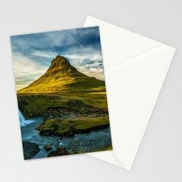 Triple waterfalls of Kirkjufell in Iceland II Stationery Cards