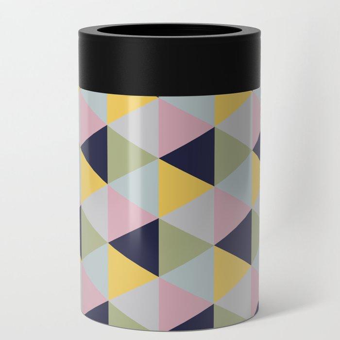 Geometric Print Can Cooler