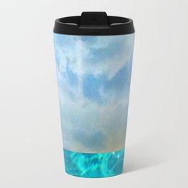 seascape 006: solo flight over swimming pool Travel Mug