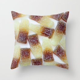 Fizzy Cola Bottles Throw Pillow