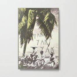 Yakity Metal Print