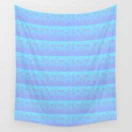 Je t'aime 12-Je t'aime,I love you,romance,romantic,love,beauty,heart,cute,girly,gentle Wall Tapestry