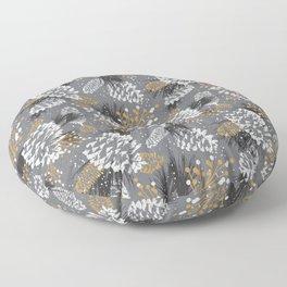 Festive Forest - Grey Floor Pillow