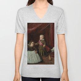 "Diego Velázquez ""Don Baltasar Carlos with a Dwarf"" Unisex V-Neck"