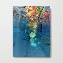 World under Water by Nico Bielow Metal Print
