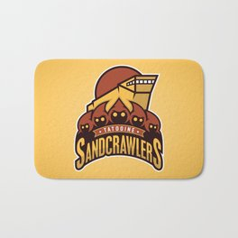 Tatooine SandCrawlers - Gold Bath Mat