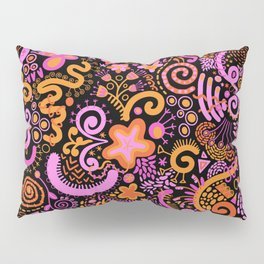 Pink Orange Yellow Zendoodle Pillow Sham