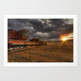End of Day Art Print