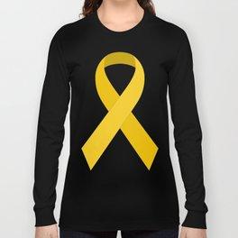 Yellow Awareness Support Ribbon Long Sleeve T-shirt