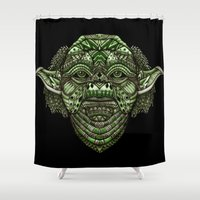 jedi Shower Curtains featuring Aztec Jedi master Yoda iPhone 4 4s 5 5c 6, pillow case, mugs and tshirt by Greenlight8