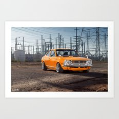 Old School Corolla Art Print