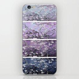 Vincent Van Gogh : Almond Blossoms Panel Art Dark Blue Purple Lavender iPhone Skin