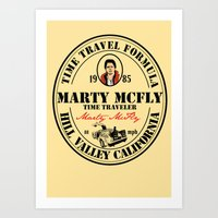 marty mcfly Art Prints featuring Marty McFly by SuperEdu