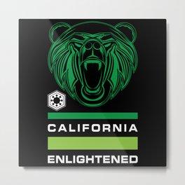 California Enlightened Bear Flag Metal Print