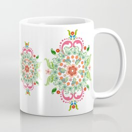 Folk Art Medallions on white Coffee Mug