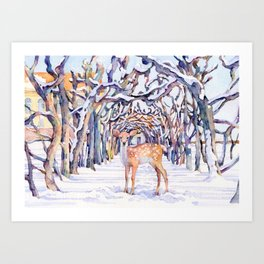 Gruesse aus Dachau(christmas-card-3) Art Print