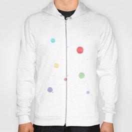 colored splatters watercolor Hoody