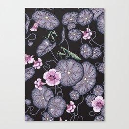 Black Indian cress garden. Canvas Print