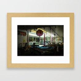 Night Market Framed Art Print