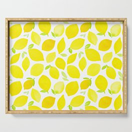Beautiful Lemon Pattern Serving Tray