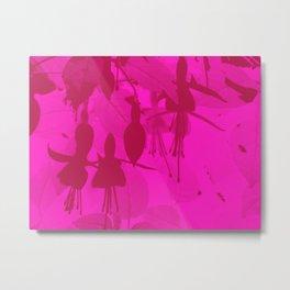 Pink Duotone Fuschias Metal Print