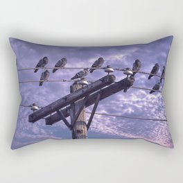 Pigeons on the Wires Rectangular Pillow
