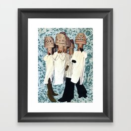 Hats people Framed Art Print