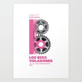 Bike to Life - Bicivoladores Art Print