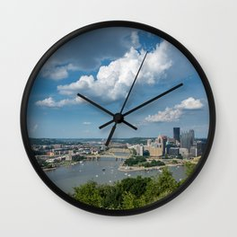 Pittsburgh in the summer Wall Clock