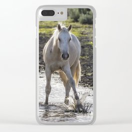 Traveler Making a Splash Clear iPhone Case