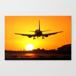 Beautiful 737 Sunset Canvas Print