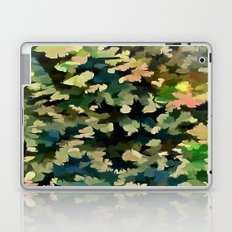 Foliage Abstract In Green, Peach and Phthalo Blue Laptop & iPad Skin